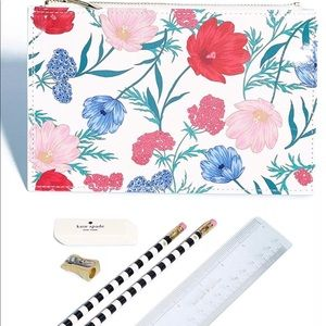 Kate spade blossom floral pencil pouch one size